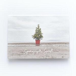 Spokojnych Świąt na Burrow Beach | greeting card