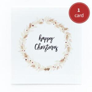Hand-painted Christmas card – in browns
