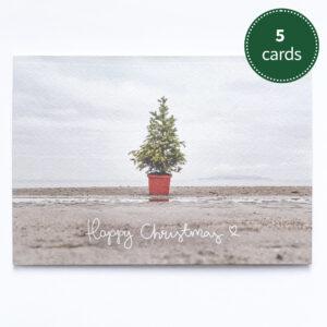 Happy Christmas on Burrow Beach | 5 pack greeting card